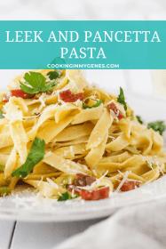 Leek & Pancetta Pasta