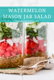 Watermelon Mason Jar Salad