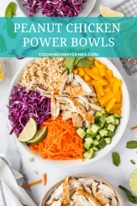 Peanut Chicken Power Bowls