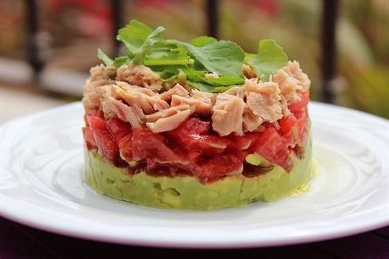 Timbal of avocado and tuna