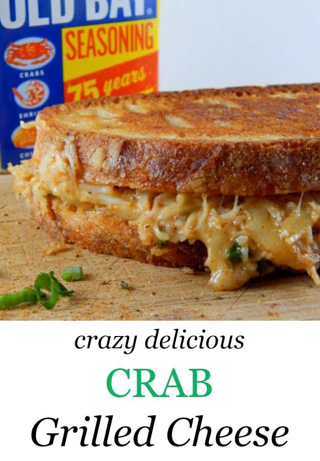 Cheesy, buttery, and decadent - this recipe for crab grilled cheese is an indulgent favorite. www.cookingismessy.com
