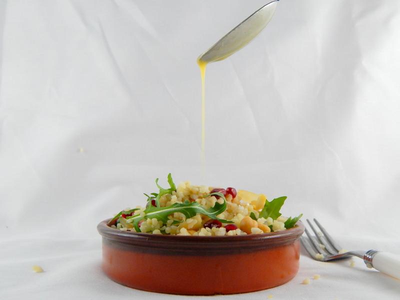 Lemon Tahini dressing on Salad