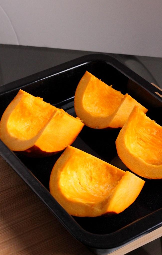 Roasting Pumpkins for Puree