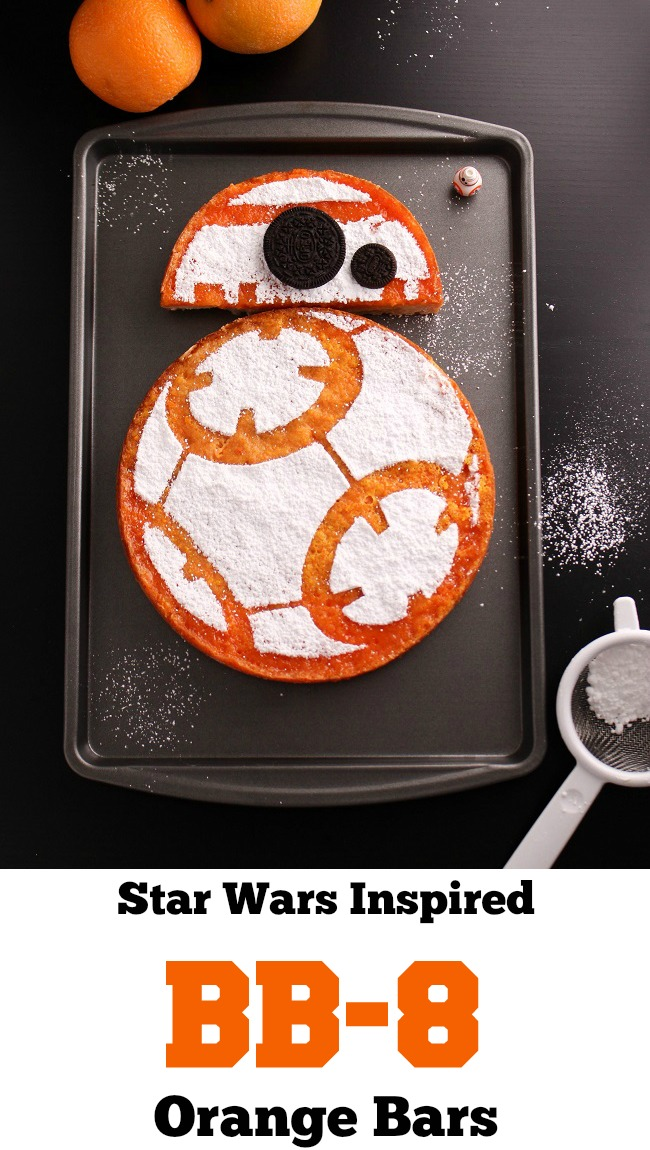 Star Wars Inspired BB-8 Orange Bars