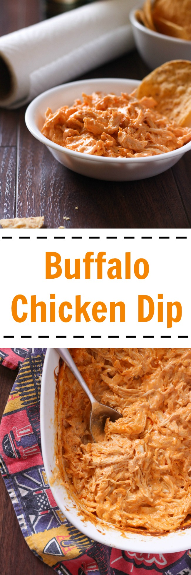Buffalo chicken dip is spicy, creamy, and full of delicious chicken. It's perfect for snacking or parties. www.cookingismessy.com