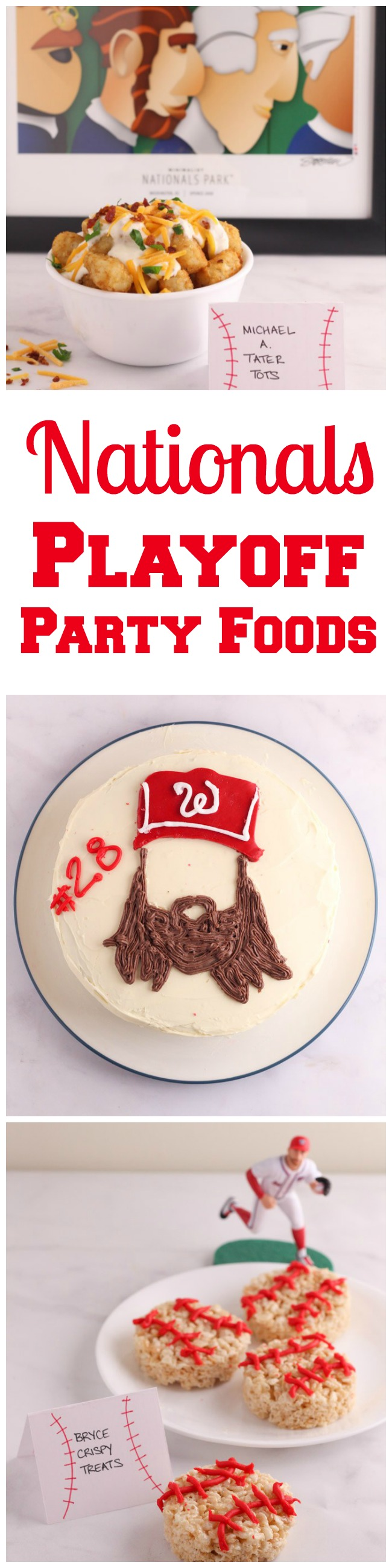 8 ideas for Washington Nationals themed foods - perfect to serve for a playoff game or any time you want to celebrate your favorite baseball team.