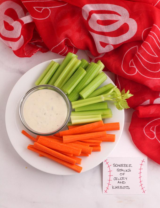 Max Scherzer stalks of celery - Nationals Playoff Party Foods