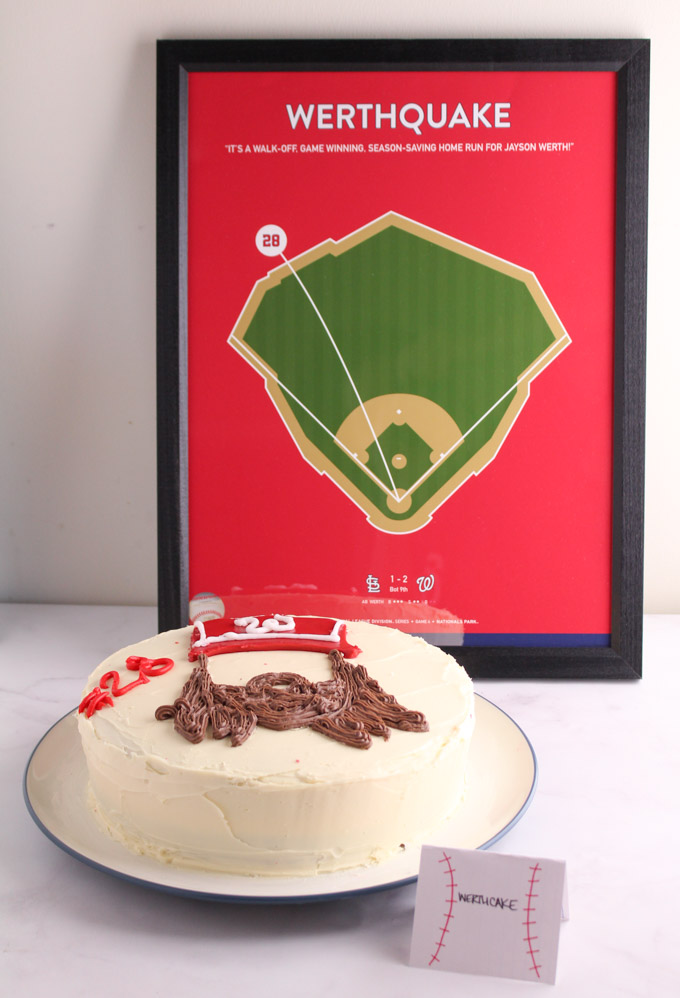 Jayson Werth Cake - Nationals Playoff Party Foods