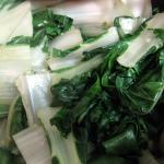 Chard Sauteed with Olive Oil and Garlic