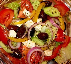 Greek salad feta