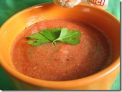 gazpacho with parsley leaf