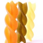 multicolored fusilli dried pasta