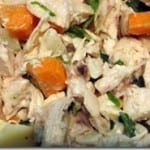 Chicken Salad with Ginger, Garlic, Basil and Green Onions