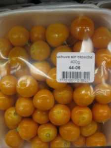 Uchuva, a small yellow Colombian fruit