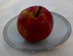 festive apple for Rosh Hashana on fine china