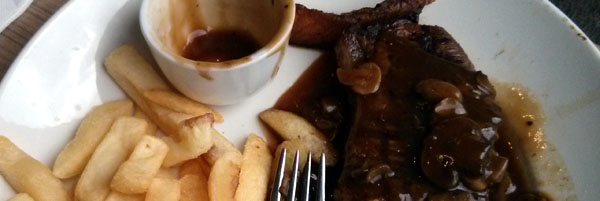 steak, Bridge Inn Hotel