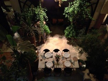 riad courtyard dinner
