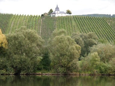 Little chapels are nestled amongst the vineyards