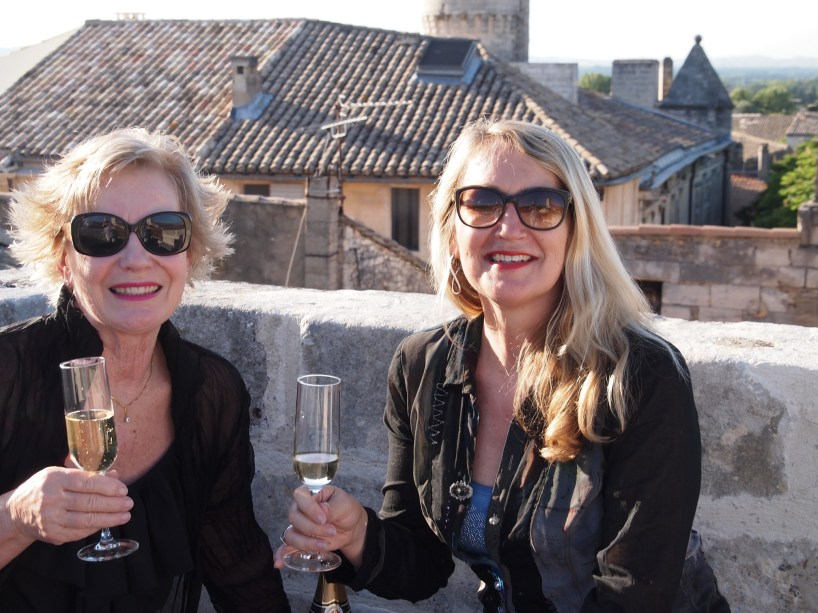 Karen's rooftop with magnificent views of Saint-Rémy