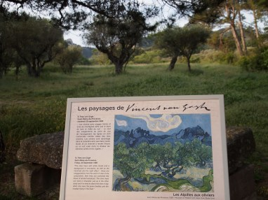 Signs to show where Vincent painted his work