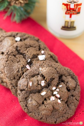 Triple Chocolate Peppermint Cookie | Cooking on the Front Burner