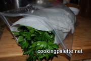 parsley in a bag