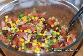 black bean and corn salsa rice chicken soup (1)