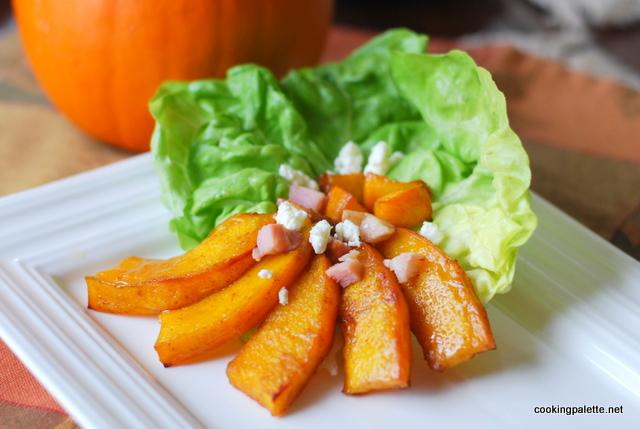 pumpkin bacon cheese salad (6)