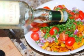 garbanzo pepper tomato salad (10)