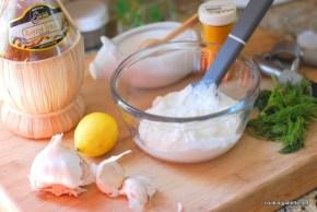 two yogurt sauces fried zucchini  (2)