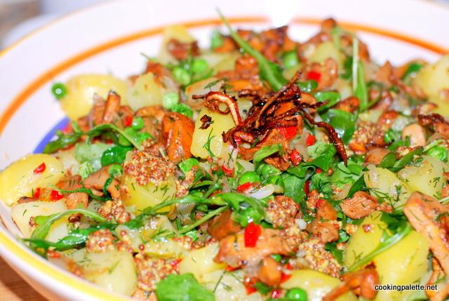 warm shanterelle salad (14)
