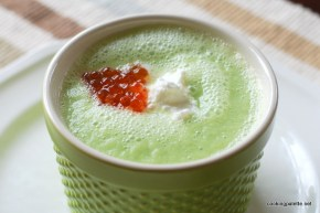 green soup mousse red caviar (14)