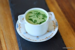 green soup mousse red caviar (17)