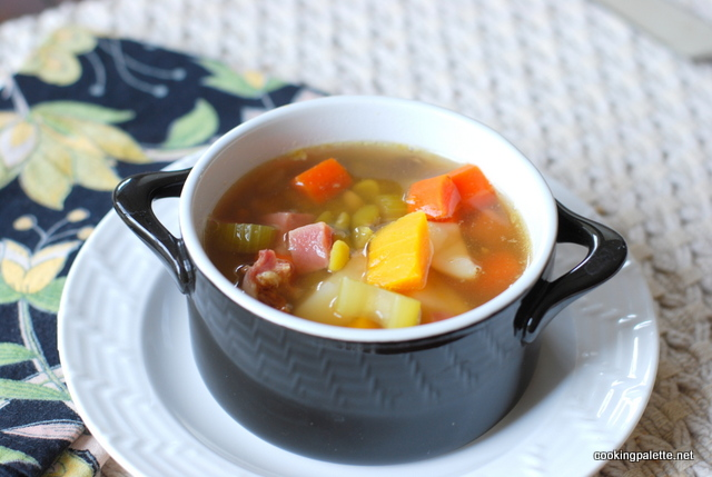 pea soup with ham and pumpkin (7)
