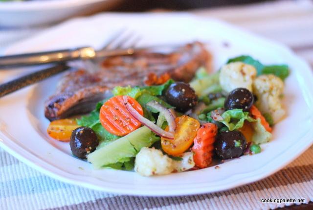quick marinated vegetable salad (13)