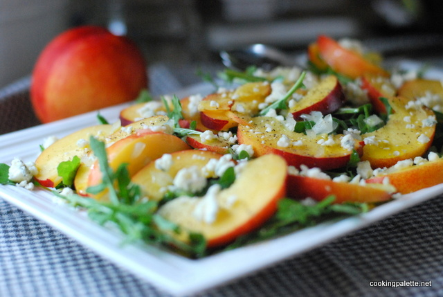 nectarine soft cheese salad (8)