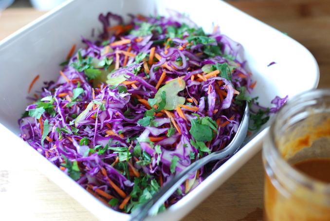 red cabbage salad peanut dressing 00001