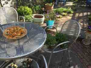Pizza in the garden, photo 1.