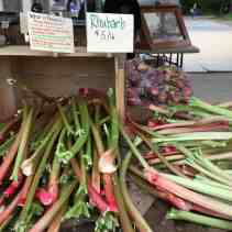 Rhubarb at the farmers' market.