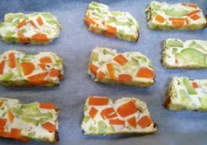 Pastel de zanahoria y calabacín