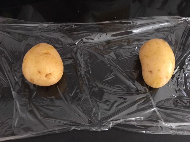 Patatas cocidas en el microondas