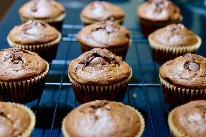 Muffins de chocolate y naranja confitada