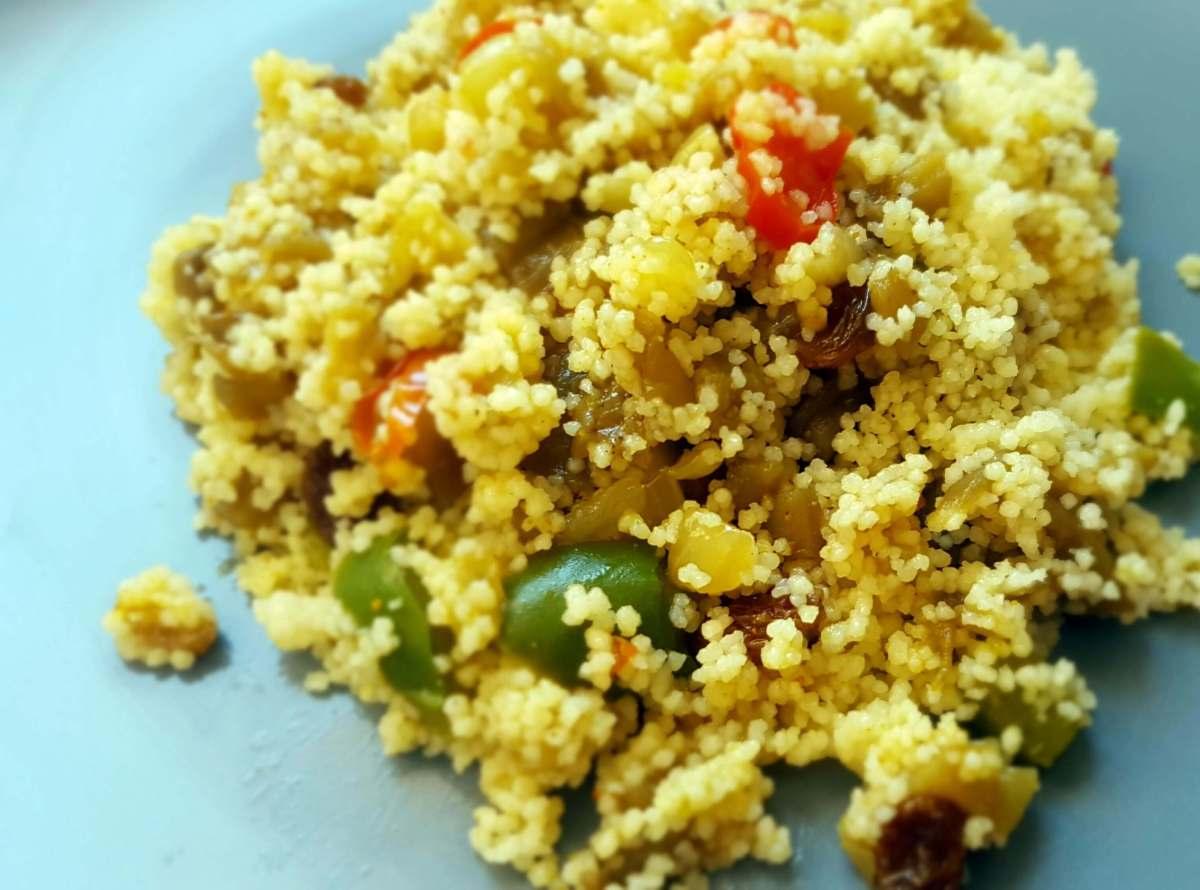 Cous cous con verduras al curry