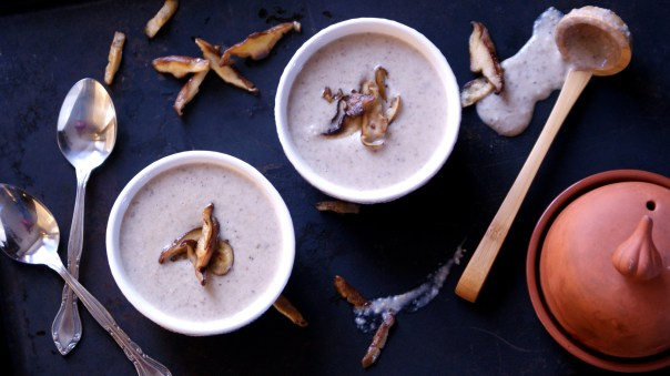 roasted garlic cream of mushroom soup