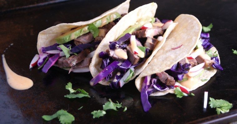 Asian Steak Tacos