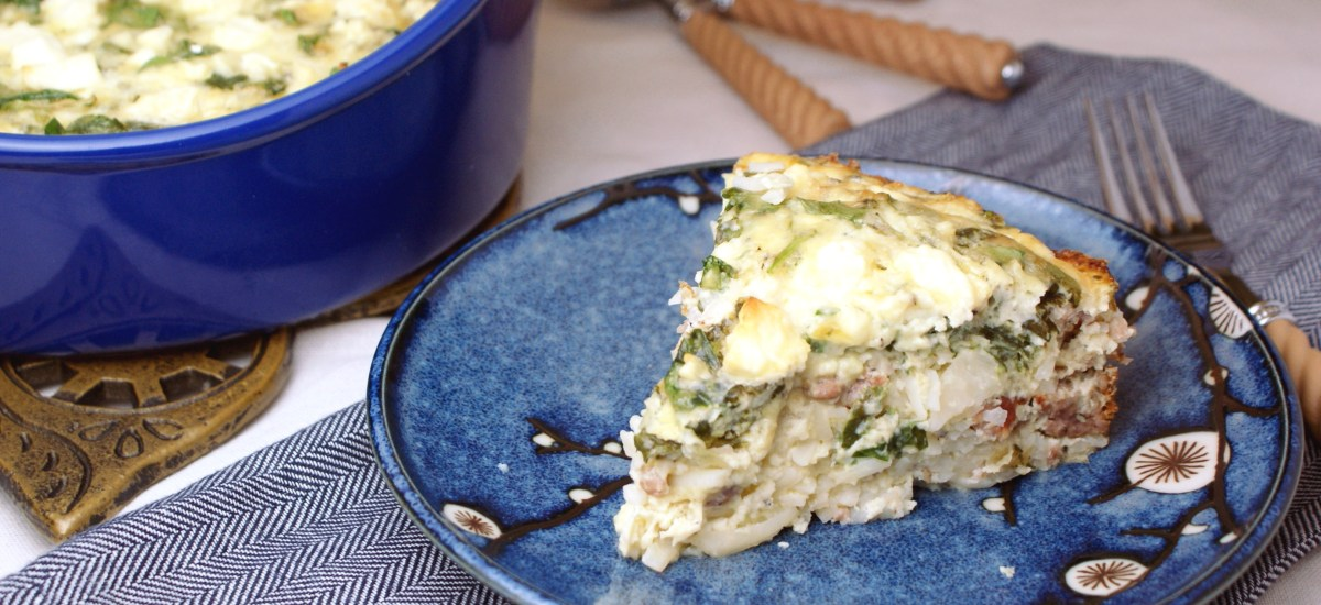 Spinach Feta Breakfast Casserole