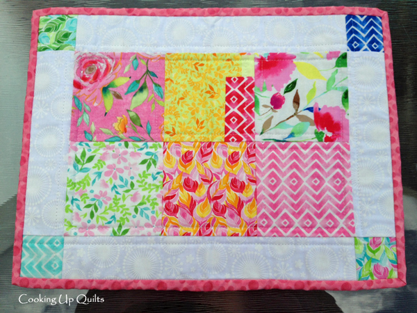 Placemat with Pink Binding