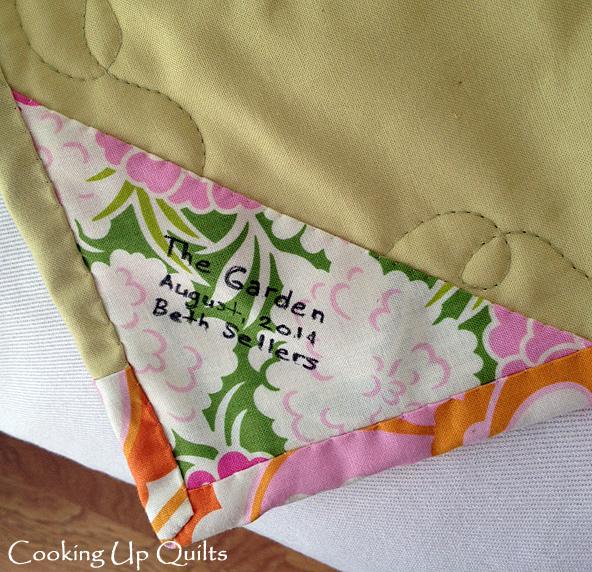 Garden Quilt label