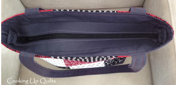 Zipper on Tote Bag