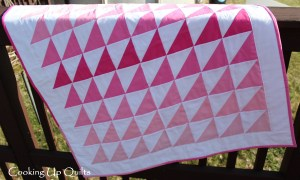 HST Triangle Quilt Kona solids